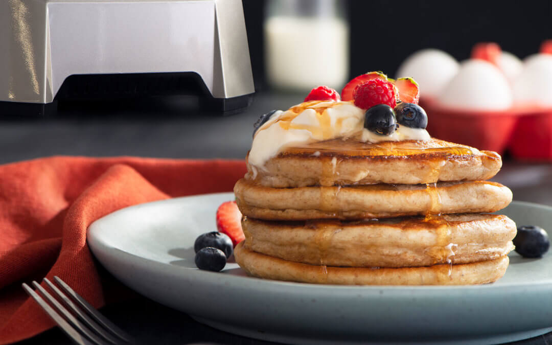 Greek Yogurt Blender Pancakes